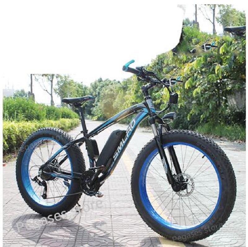 26inch vélo électrique 1000W 17.5Ah électrique Plage Bike 4.0 Fat Tire Vélo 48V Mens VTT neige eBike vélos e