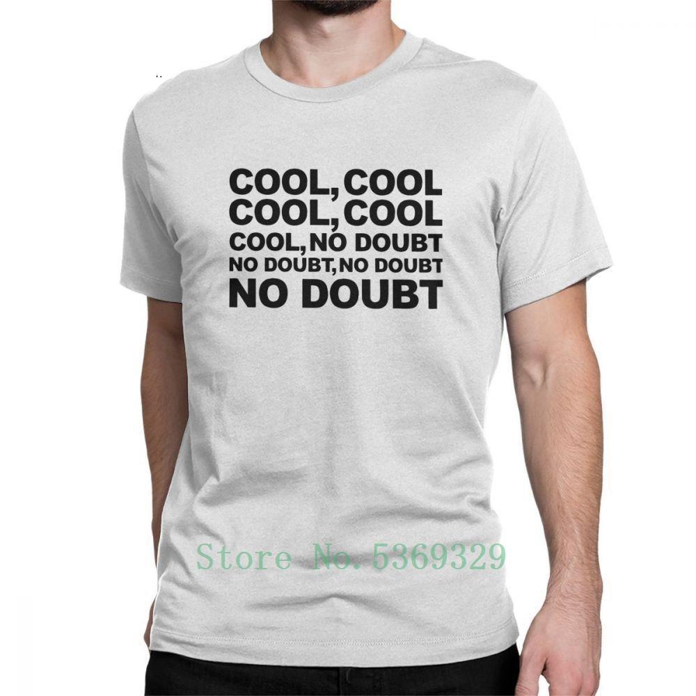 Camiseta de los hombres No Doubt fresco de 100% algodón B99 Brooklyn Nueve Nueve 99 Jake Peralta Tees O Cuello camiseta divertida ropa