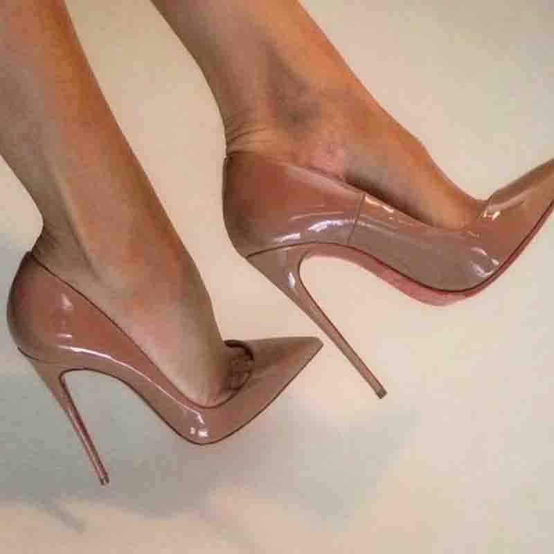 Klassische Namen Marken Damen Schuhe So-Kate Pumpe Red Soles High Heels Pigalle Original Lackleder Sexy Lady Hochzeit Kleid Heels