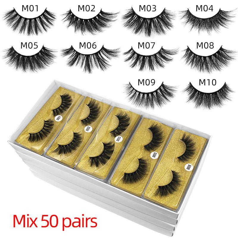 3d visone ciglio falso 3d ciglio falso naturale lungo makeup estensione frusta in massa con sfondo giallo DHL