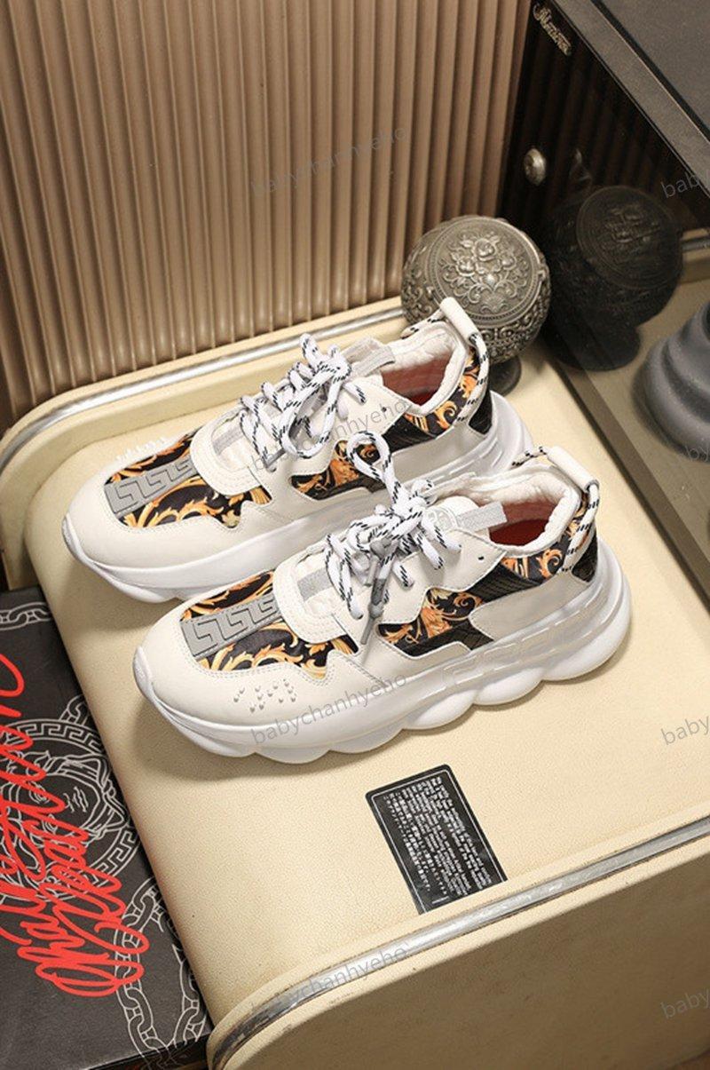 Versace shoes Chainer 2 Chaussures Homme las zapatillas de deporte 2020 Porte-Designer Blanc Rouge impresión épais Bas extérieur Zapatos Casual Taille