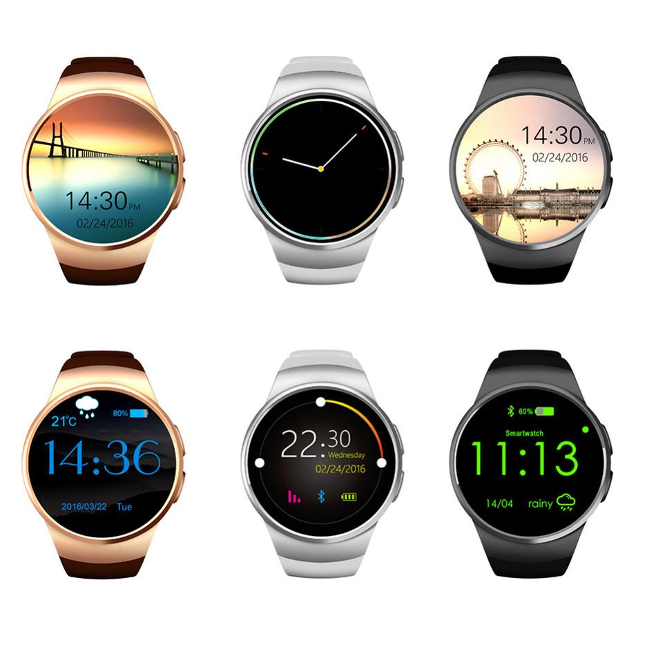 Оптовая KW18 Bluetooh Смарт Часы Heart Rate Monitor Поддержка SIM-карт TF SmartWatch для iPhone Samsung Huawei шестерней S2 Android SmartWatch