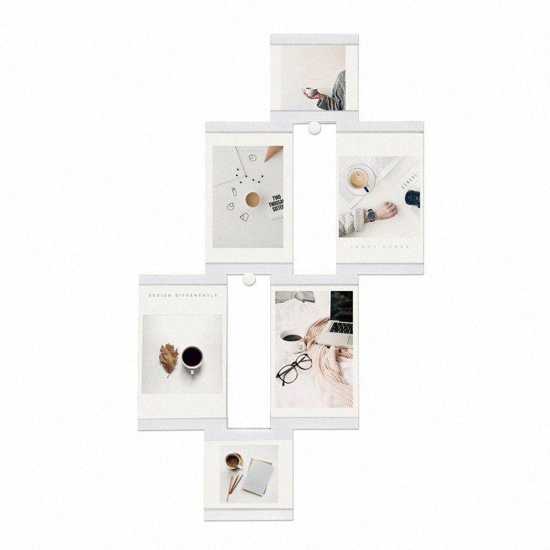 Multi-frame Cadres Blanc Cadres photo Home Décor transparent Collage multifonctions photo Set Avec aspiration Cube FiE2 #