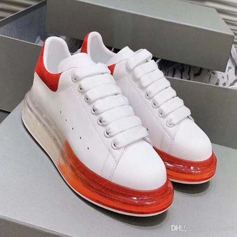 2020 Nouvelle qualité 20SS coussin sous vide chaussures de sport surdimensionné semelle en caoutchouc de baskets baskets plateforme en daim cuir chaussures de sport E3A