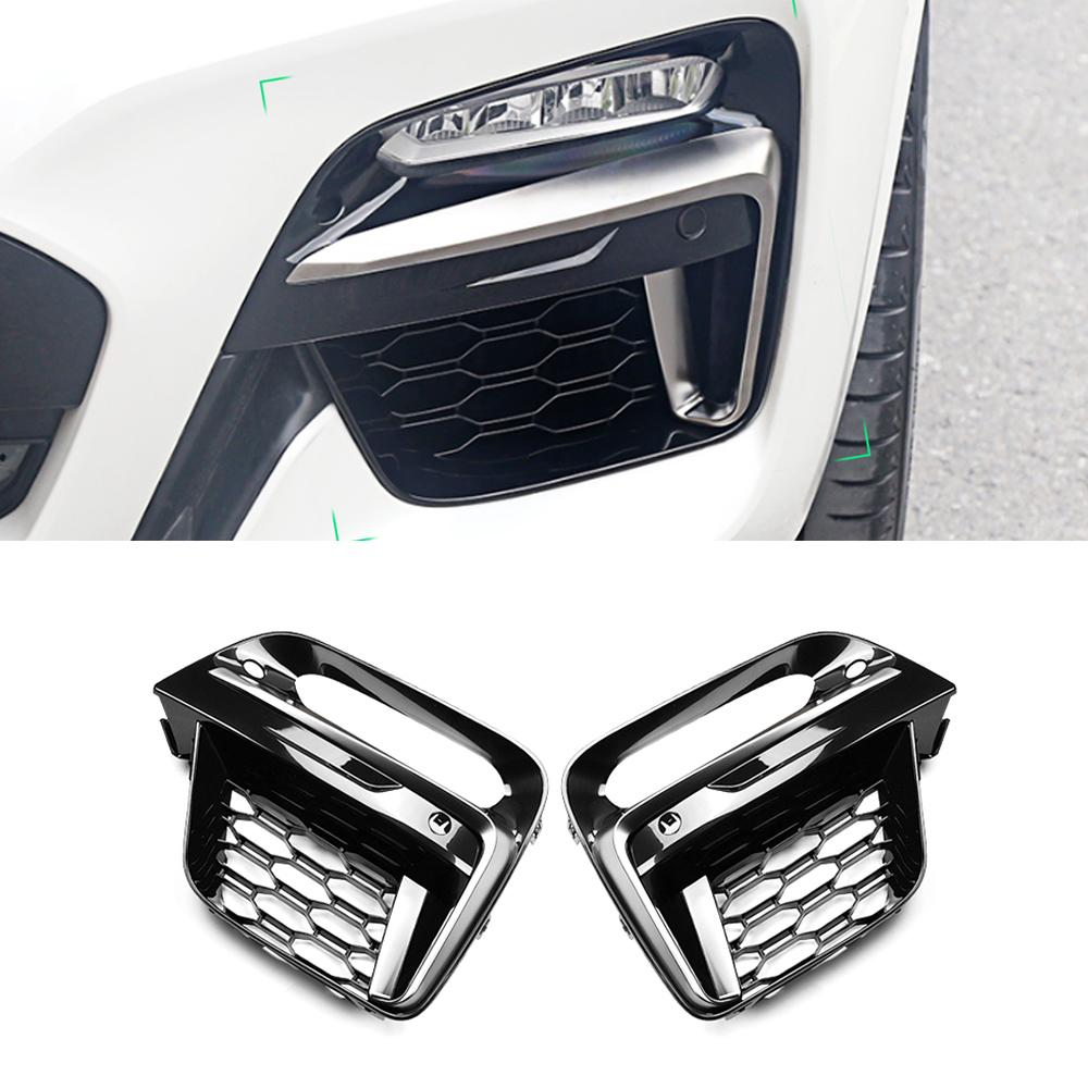 For BMW X3 G01 X4 G02 2017-2020 Car Front Grille Grill Net Sheet Fog Light Cover Protector Frame Decorations Exterior Parts