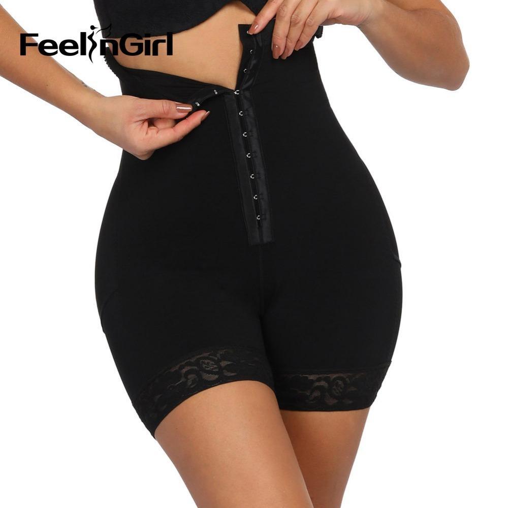 FeelinGirl Yüksek Bel Butt kaldırıcı Bel Trainer Zayıflama Külot Karın Shaper Kontrol Külot Shapewear Düzeltici İç Y200710