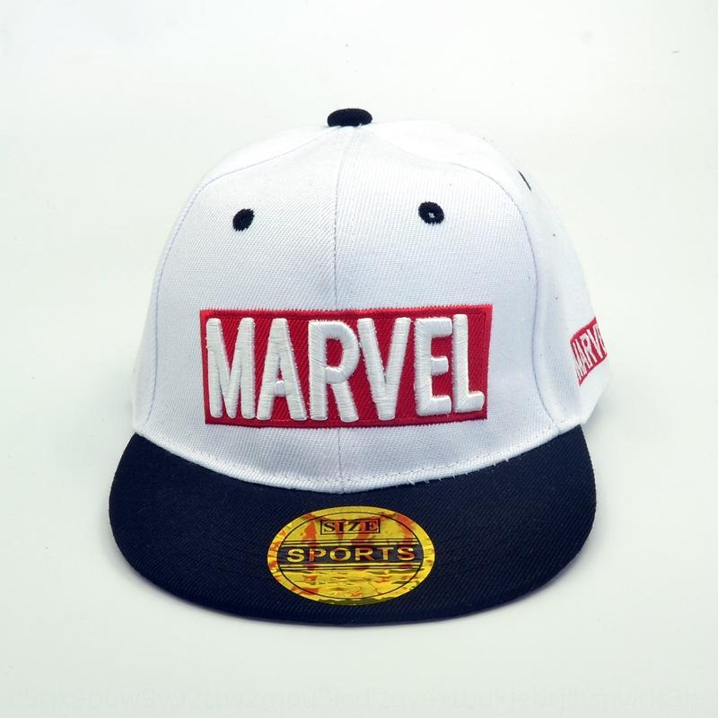 Children's MARVEL New baseball cap sun sun hat embroidery letter hip-hop flat eaves baseball cap boys' and girls' sunshade tide hat
