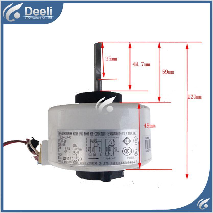 Klima iç makine motor FN20V-PG (YYR20-4A9-PG) için yeni iyi bir çalışma 220V motor fanı