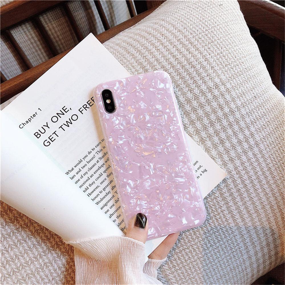 Parlak Glitter Bling Koruyucu Kılıf iPhone XS Jel Geri Kapak iPhone 11pro Yumuşak TPU Shell Mermer IMD Olaylar İçin