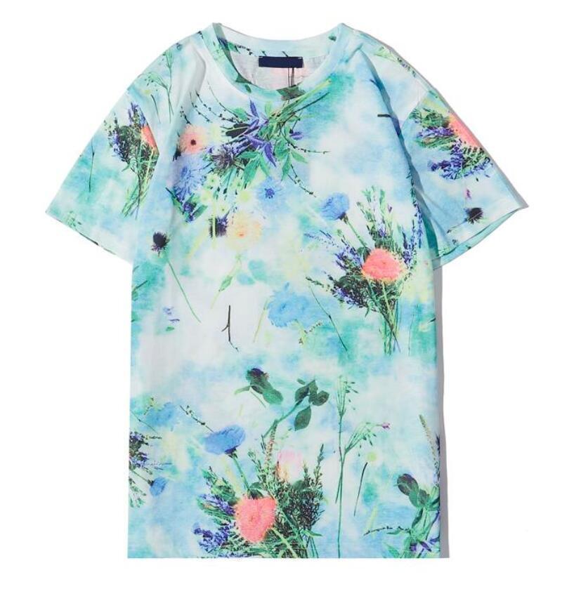 New T Verão Camisas para mulheres dos homens T-shirt com letras Flores Moda Casual Pullover T-shirt Mulheres Tops Vestuário S-2XL