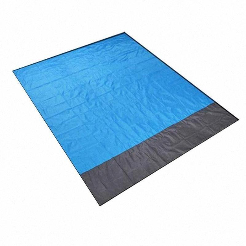 Isomatte Wasserdichte Stranddecke im Freien beweglichen Picknick-Boden Matten-Matratze-Outdoor-Camping-Picknick-Decke 2.1 * 2m kCl1 #