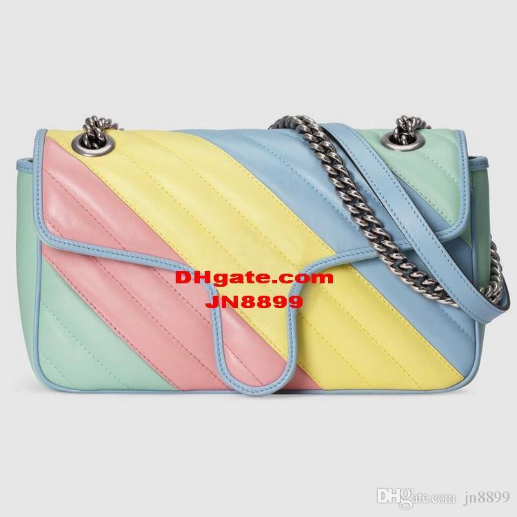 뜨거운 판매 새로운 스타일 여성 어깨 가방 실버 체인 바디 크로스 PU 가죽 가방 지갑 여성 토트 백 메신저 가방 지갑 2 크기