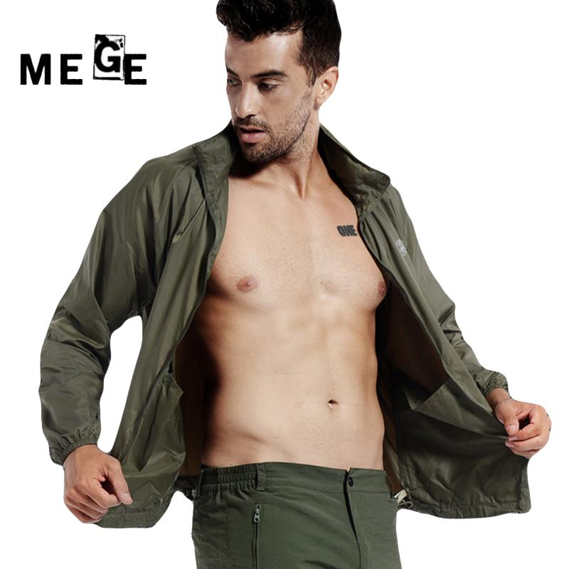MEGE Summer Skin Jacket, Sun & UV Protection Coats, Men Camouflage Super Light Hiking Camping Quick Dry Outdoor Sportswear