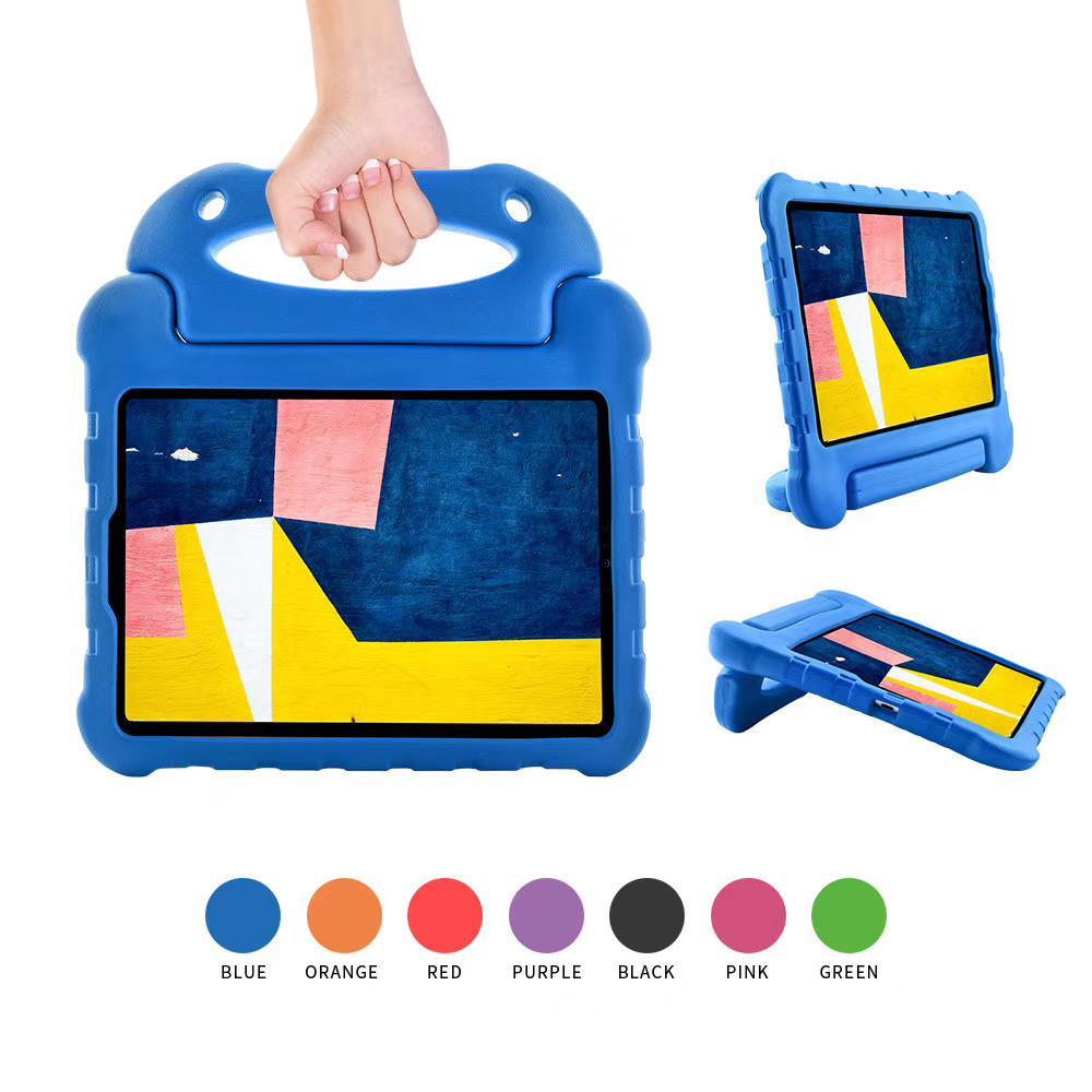 For iPad 10.2 2019 Eva Foam Shockproof Protective Durable Carry Handle Lightweight Holder Kids Tablet case