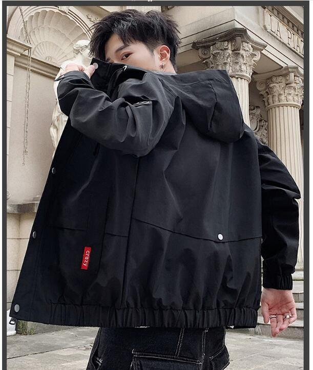 HotNew primavera autunno casuale più dimensioni Giacca da uomo giacca con cappuccio TOP cappotto PARKA uomini rivestimento della tuta sportiva