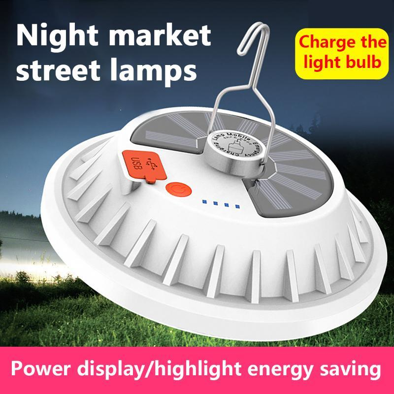Portable Lantern 120LED Outdoor Solar Camping Lamp Remote Control Rechargeable LED Bulb Lamp Emergency Night Market Light