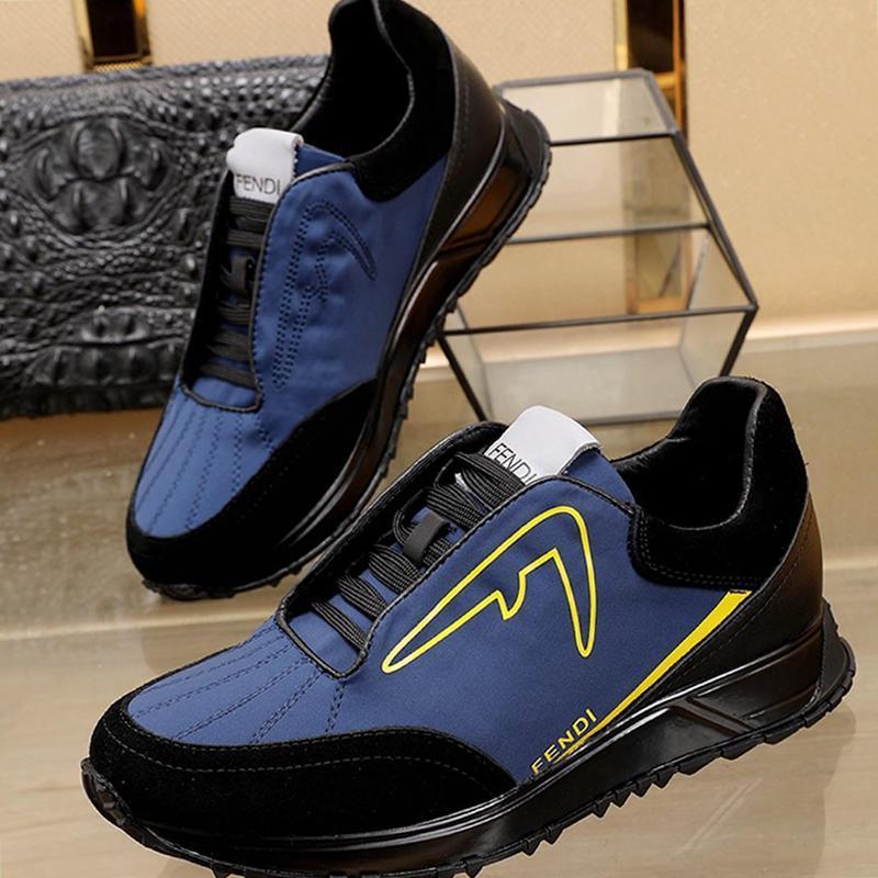 Hombres zapatillas de deporte respirable cómodo deporte de la manera Formadores suaves zapatillas cómodas con estilo Origen Box F784 de lujo zapatillas Negro