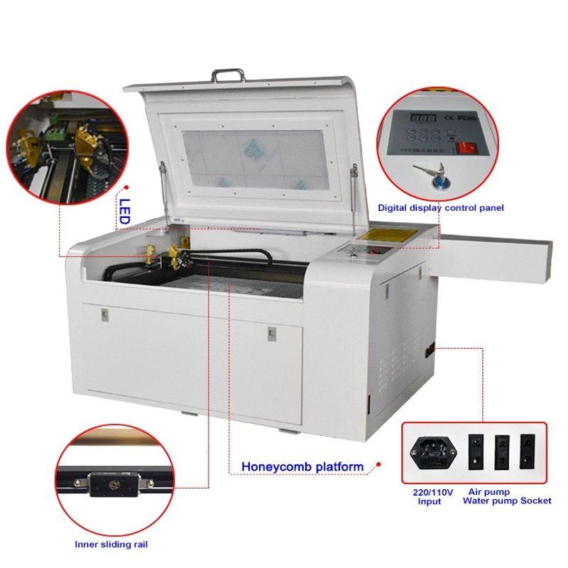 ZD460 CE 50W CO2 CO2 Gravure de laser et machine de découpe Graveur laser 460 50W Mini Craft Machine de découpe laser pour contreplaqué MDF