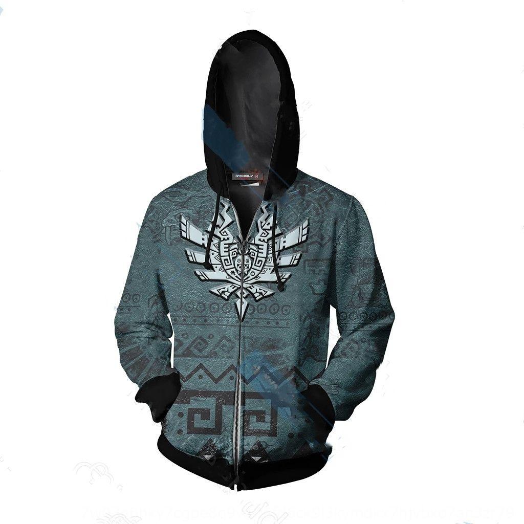 2019 NewHunter mundo 3D impresso camisola hoodie sweater cardigan hoodie de cosplay animação