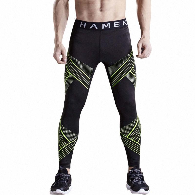 Pantaloni Bodybuilding Gym Jogger basket maschile collant sport leggings pantaloni in esecuzione di compressione di forma fisica dei pantaloni pantaloni della tuta QjkF #