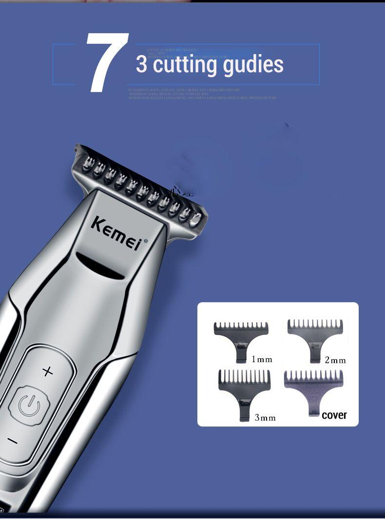 Mostra Kemei Capelli LCD digitale Clipper capelli elettrici rasoio regolatore dei capelli d'argento maschile tagliatore KM-5027 taglio di capelli cordless Barber bwkf MwHNy