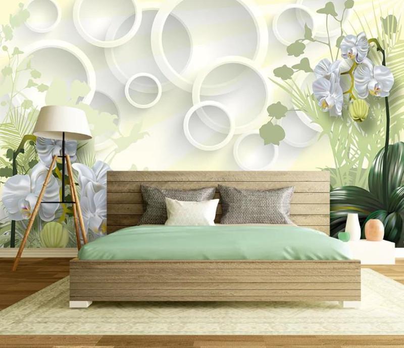 Photo Wallpaper 3D flores Stereo Clivia Mural Sala Quarto contexto da parede 3D Mural Papers