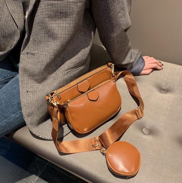 3 pièces Sac bandoulière femme nouvelle mode Sac Composite de haute qualité Sacs à main en cuir Plus de colocalisation