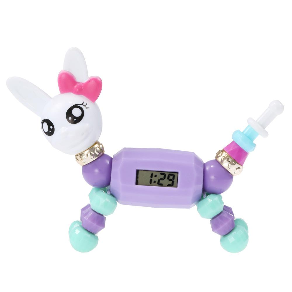 Мода случайных Эльфов животные DIY бисер браслет мультфильм Магия Разнообразие игра мозг Цифровой дисплей ребенок электронные часы