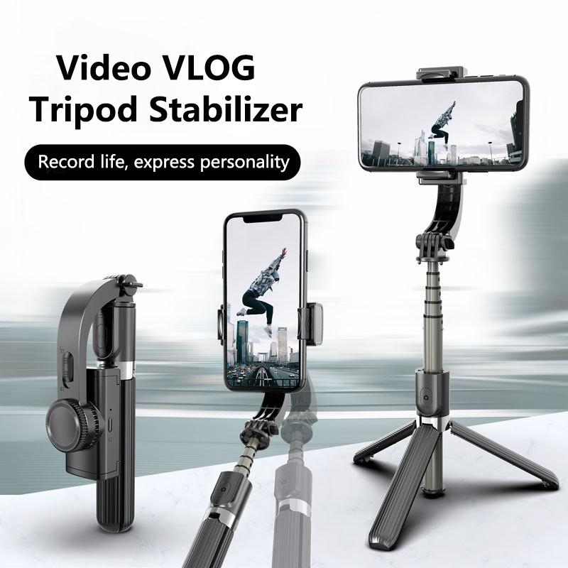 Stabilizer for Smartphone,Auto Balance, Reduce Shaking,1-Axis Handheld Pan-tilt Tripod with Built-in Bluetooth Remote for Phone