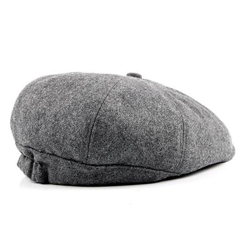 Sonbahar Ve Kış Erkekler Hat 2020 Yeni Stil Sekizgen Şapka İngiliz Moda Saç Yün Artı Kadife Bereliler Erkek Dil babamın Cap Isınma