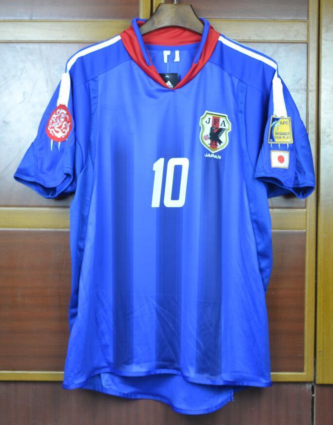 World cup 2004 JAPAN soccer jerseys Retro #10 NAKAYAMA 04 football shirts