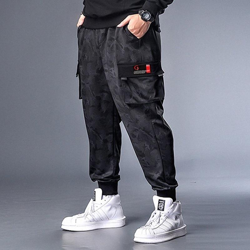 Les hommes pantalons épissage coton Pantalons Hip Hop Taille Plus 7XL loisirs jogging relaché gym mode masculine de jogging oxWm #