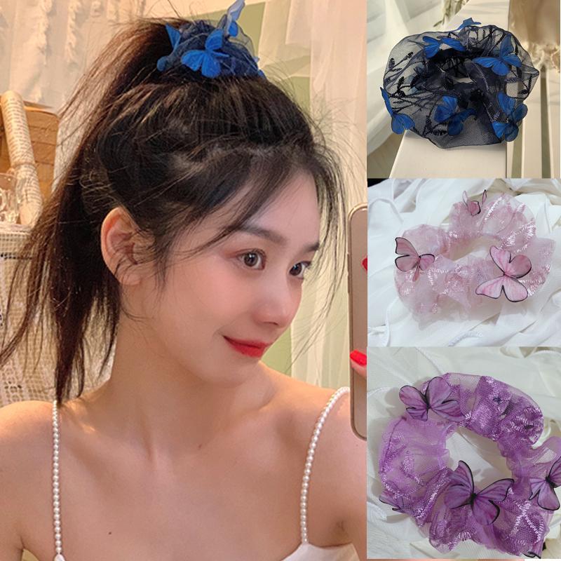 Ruoshui Kadın İplik Scrunchies Moda Saç Bağları Elastik Hairband Saç Aksesuarları İçin Kadın Sakız Süsler Lastik Bant