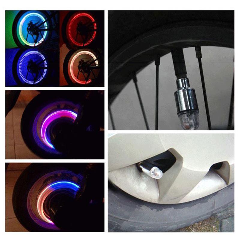 TIOODRE 4adet Sevimli sevimli Aura Su geçirmez LED Otomatik Araç Tekerlek Işık Kök Cap Işık Lambası Ampul Dekorasyon Su geçirmez Fonksiyonu