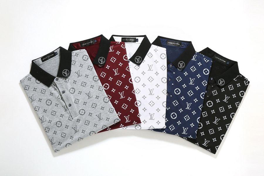 El nuevo diseñador de polos de los hombres de polo de lujo ocasionales de los hombres la camiseta del polo de la serpiente Carta abeja Imprimir bordado de moda de la calle para hombre Polos M-3XL629