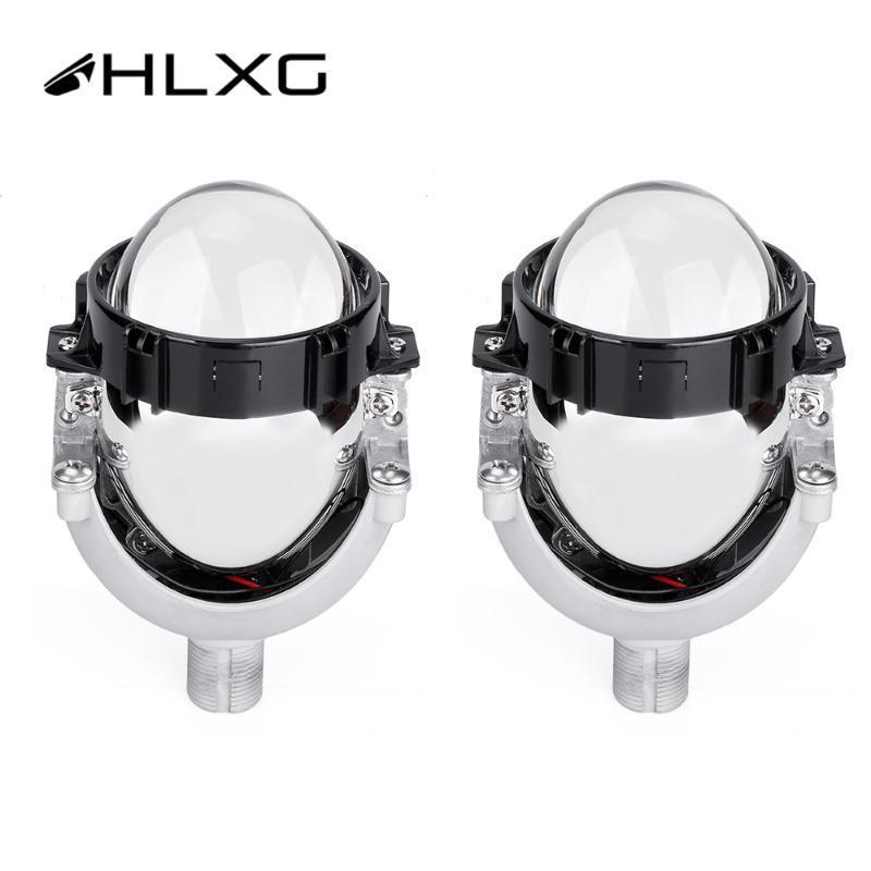 2X Auto Hi / Lo feixe Lens H1 9005 Lentes 3 4 9006 Lâmpadas LED H4 H7 Projetor Bi-LED para Farol Retrofit Cars Car-styling