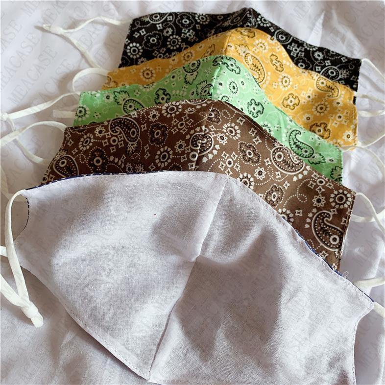 Adulti di lusso Maschera disegno lavabile maschere antipolvere regolabili Sunproof Bocca-muffola coperchio riutilizzabile cotone traspirante maschere D72103