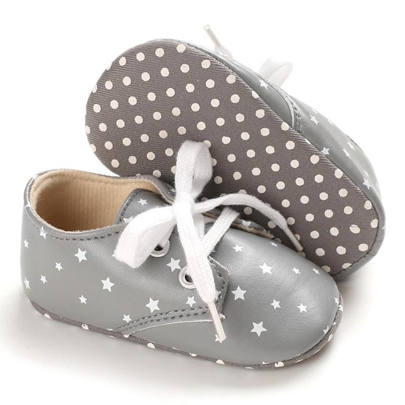 Первые ходунки классический досуг искусственная кожа родился девочка мальчик дети детская кроватка младенческая детка звездный узор красивый ретро ботинки