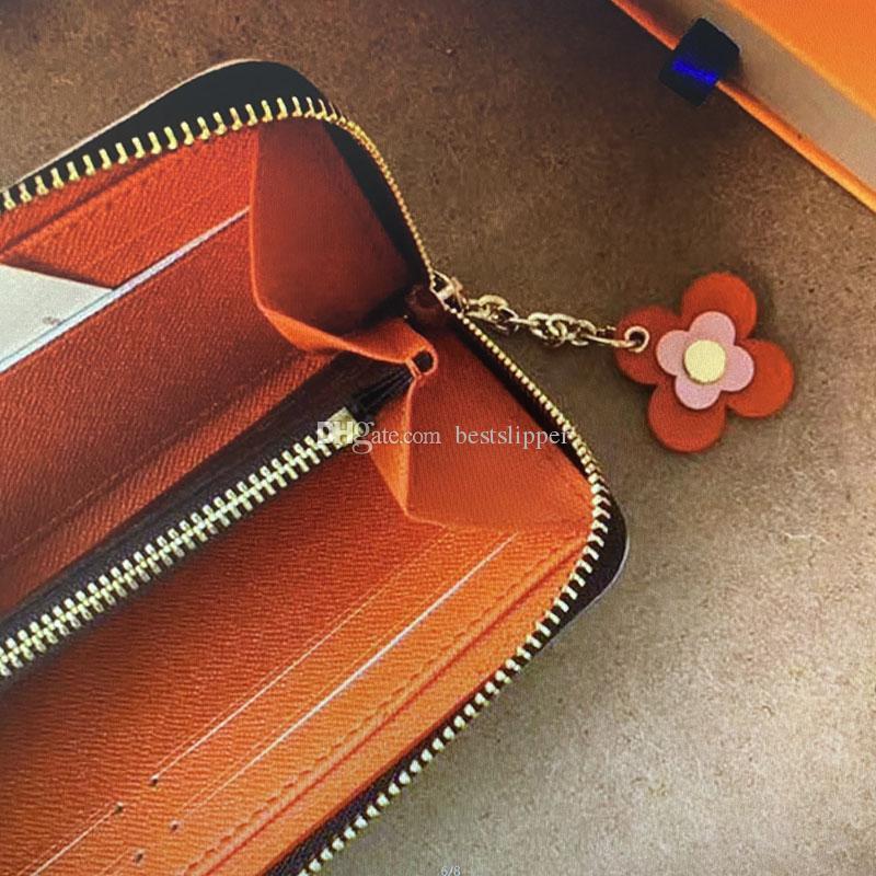 Женский кошелек ZIP Высокое качество Sedleather для женщин кошельков задолго с держателями M68314Clement Card мода дизайнерская стена сцепления EVVFH