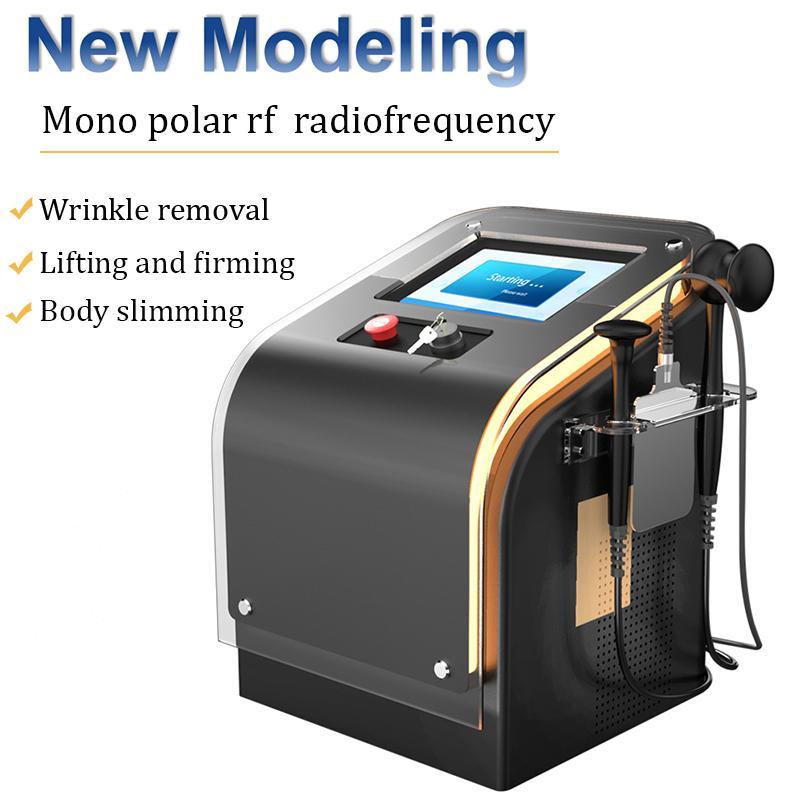 Nueva llegada cara radiofrecuencia monopolar RF equipo de la belleza facial delgado el uso del salón de RF máquina sin dolor