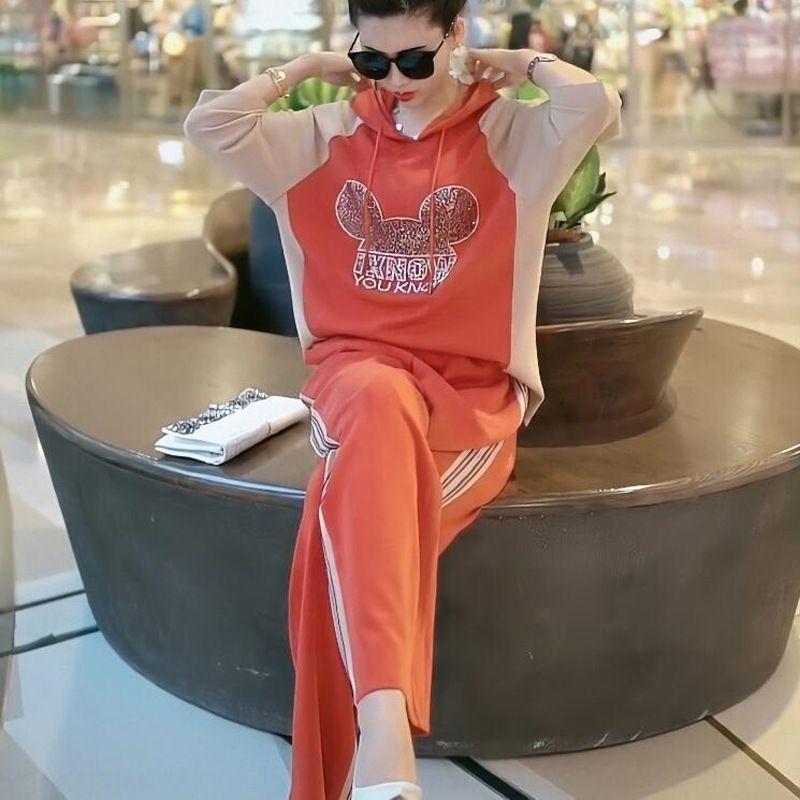 pantalones anchos de la pierna pierna ancha 6905 traje traje de verano 2020 de la manga media nueva perforación en caliente estilo occidental pantalones ocasionales de dos piezas de la moda rZ5eV