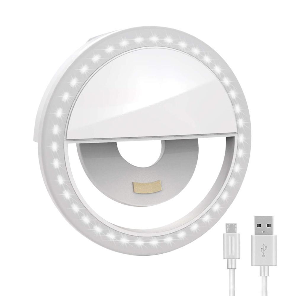 LED Selfie Ringlicht Ergänzungsbeleuchtung Nacht Dunkelheit Selfie Enhancing Fill-Licht für Handys