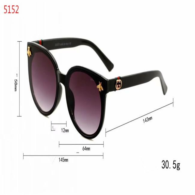 marca de moda qualidade 2020High lentes de metal ouro 50 milímetros preta de vidro preto homens do desenhista e mulheres Rodada óculos de sol com armação marrom melhor
