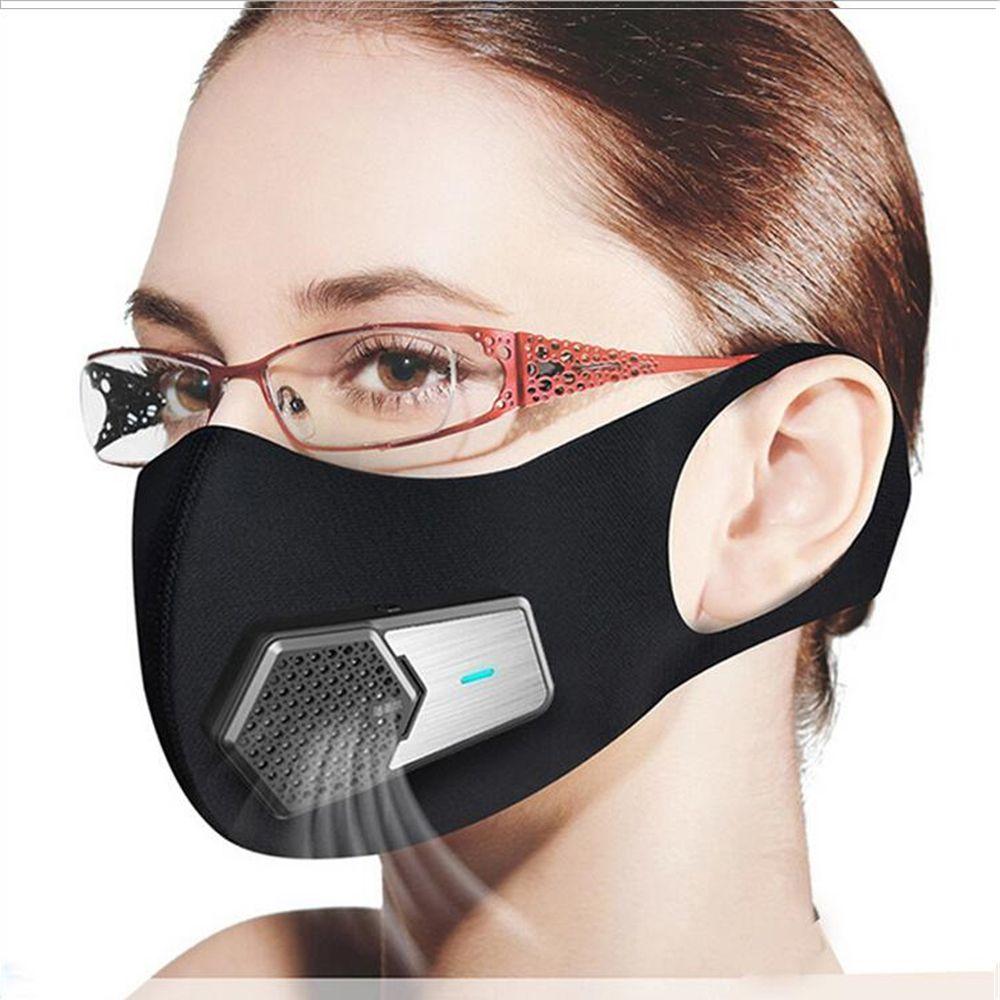 Maschere intelligente ventilatore elettrico PM2.5 antipolvere Mask Anti-Pollution allergia ai pollini traspirante copertura protettiva del fronte 4 strati Protect