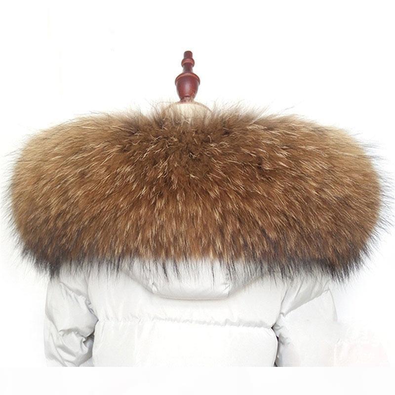 Inverno collare pelliccia calda sciarpa reale procione accessori al 100% del cappotto di pelliccia naturale cappotto caldo scialle sciarpa L10