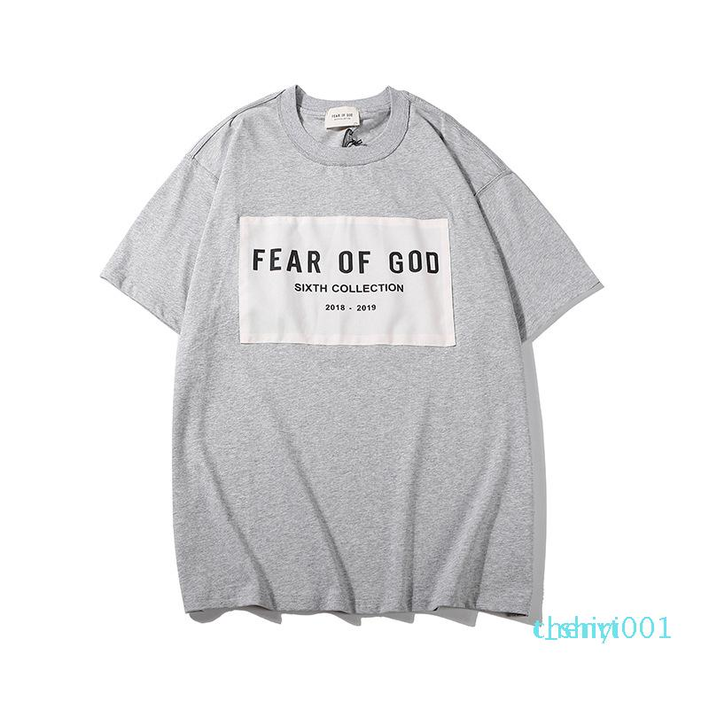Designer-Hemd Männer Frauen T-Shirt FOG Fear Of God Essentials-Hip Hop Kanye West Sommer Street T Tops z1310Bt01