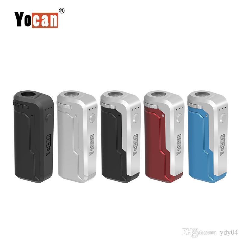 Yocan Uni Vape Mod E Cigarett Box Mod для всей ширины картриджей, предварительно нагревая Напряжение регулируемая быстрая доставка 100% оригинал