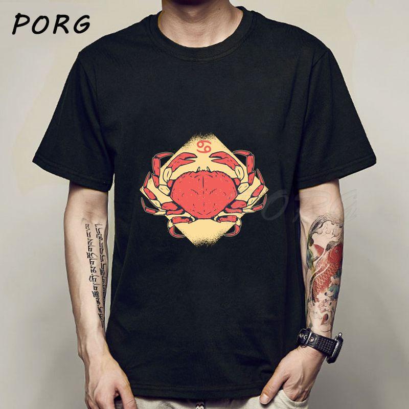 Zodiac Cancer Signe Kawaii T-shirt décontracté Mode T-shirt Homme grunge Imprimer Hip Hop T-shirt femmes Harajuku T-shirt Livraison gratuite