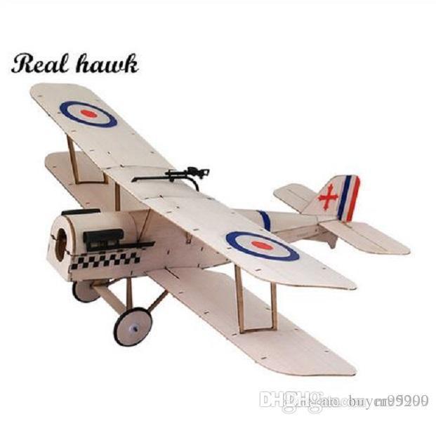 RC Aereo Laser Cut legno di balsa aereo biplano Sopwith-SE5a telaio senza coperchio Apertura alare 378 millimetri legno di balsa Model Kit costruzione