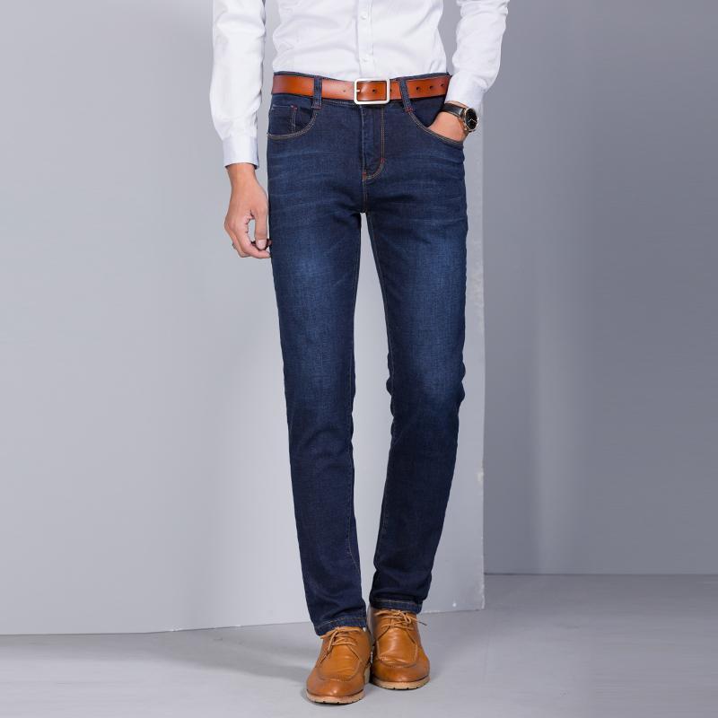 Jeans 2020 Jeans hombre de alta calidad de los hombres con elásticos ocasionales de los hombres pantalones largos pantalones más el tamaño 29-48 YF3818-1